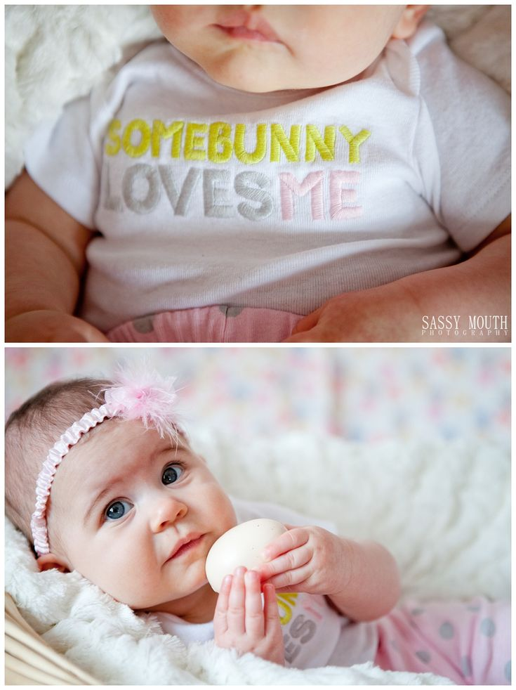 Baby Olivia - some bunny loves me - Easter Egg, 6 month old baby pictures!  <3 Sassy Mouth Photography