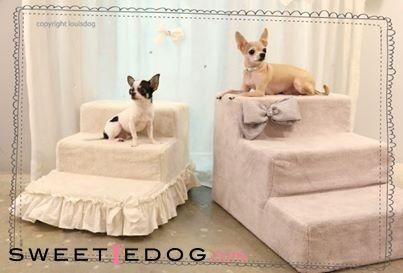 escalier chien crème step louisdog-accessoire chien-chihuahua-sweetie dog-#escalier #chien #chiahuahua #louisdog www.sweetiedog.com