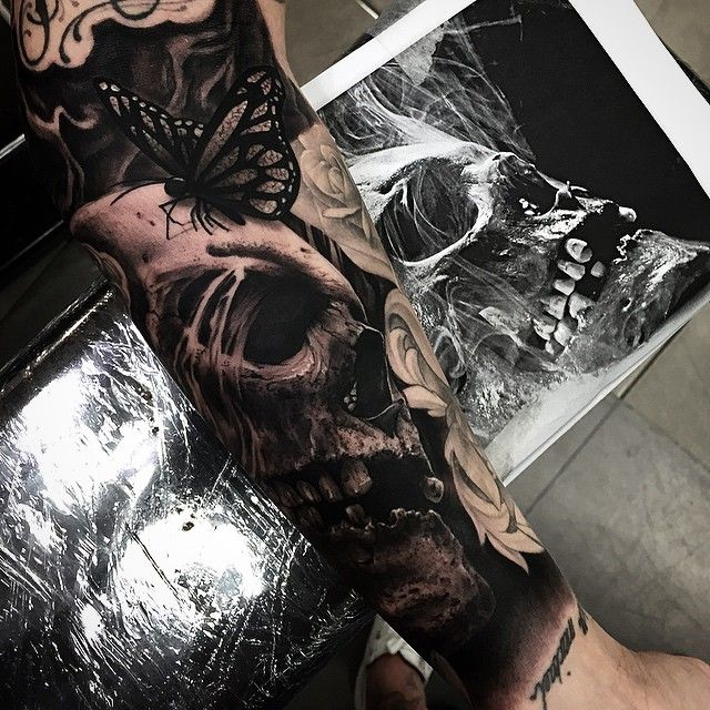 Hyper-realistic Skull Tattoos for 2015 by Drew Apicture | Get New Tattoos for 2015: Designs and Ideas from Latest Tattoos