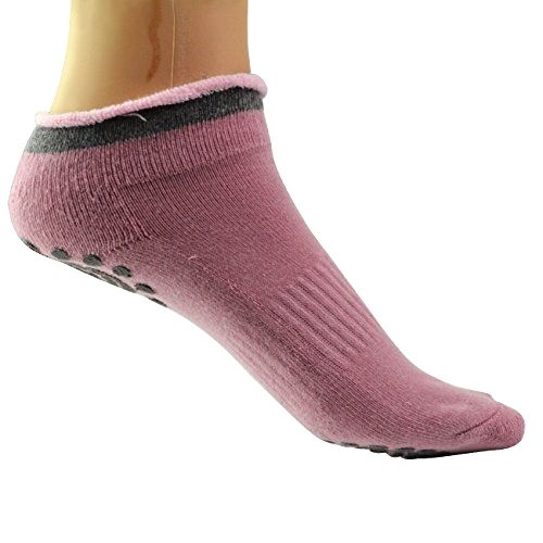 Rbenxia Women Girl's Yoga Pilates Socks Cotton Non Skid Socks 4 Pairs Made by #Rbenxia Color #Style 4. Silicone dots, All grip non slip. Made of breathable cotton, absorb sweat, freely breath. Soft and comfortable keep your foot warm.. Arch bracing provides additional support and custom fit, allows you to safely practice. Pack of 4 pairs, fit for size Small/Medium