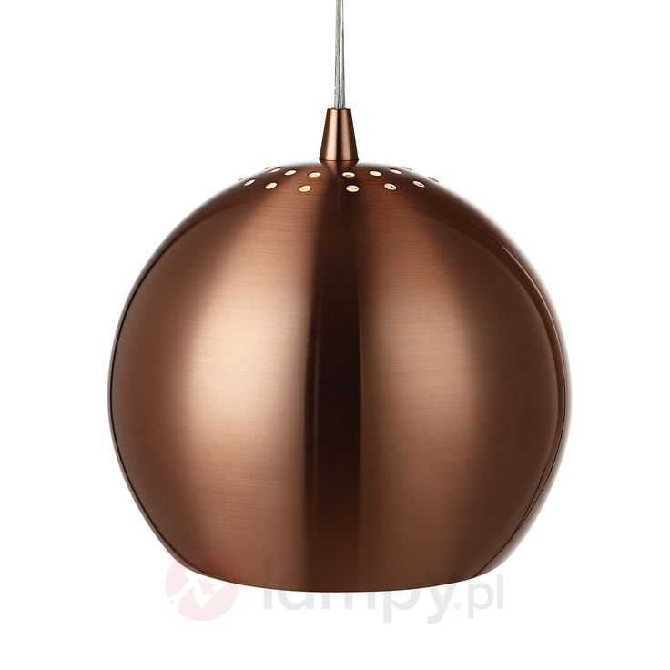 Miedziana lampa wisząca ELBA, 28 cm 6505552