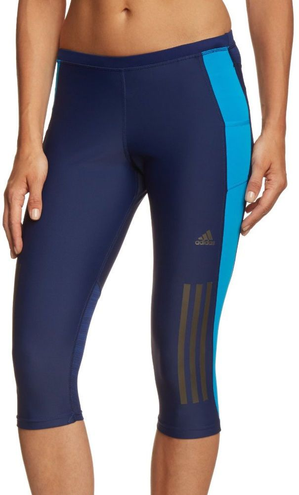 Adidas Supernova 3/4 Ladies Running Tights - Blue in Sporting Goods, Fitness, Running & Yoga, Fitness Clothing & Accessories | eBay