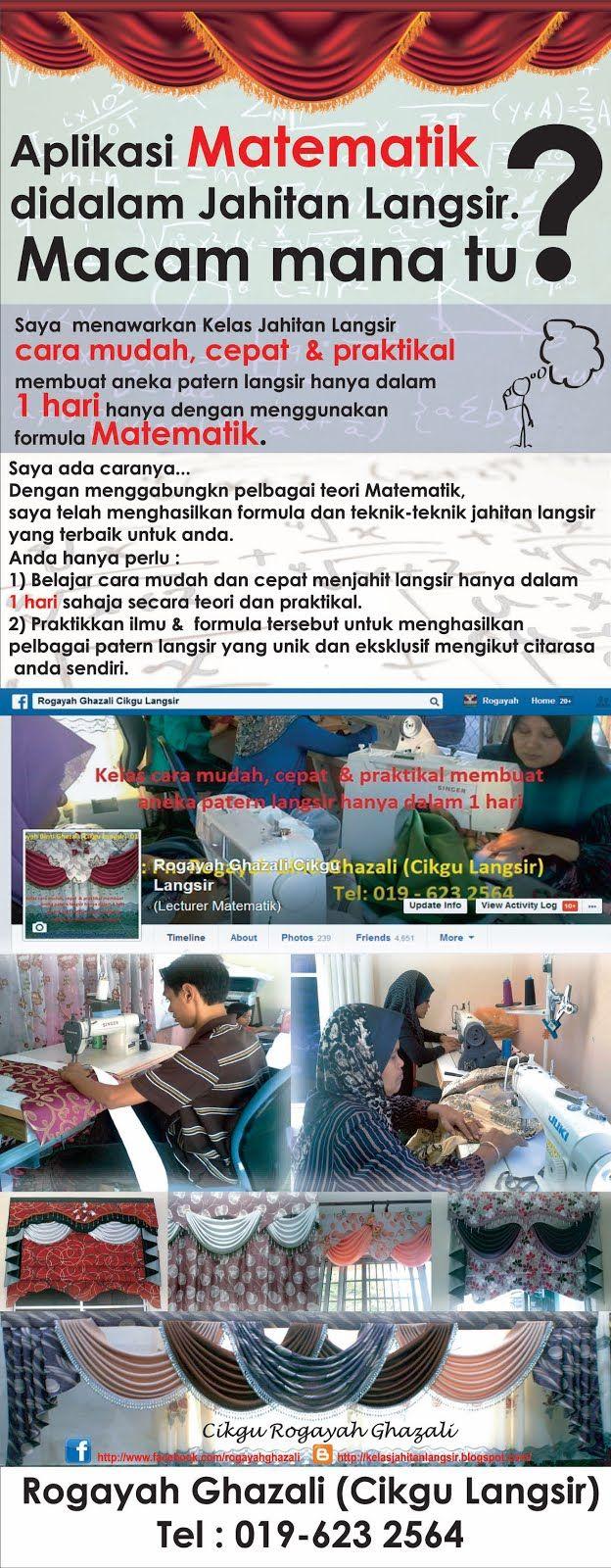 Belajar Jahit Langsir Cara Mudah Hanya Dlm 1 Hari Rogayah Ghazali Cikgu Langsir 019 623 2564 Pandora Screenshot