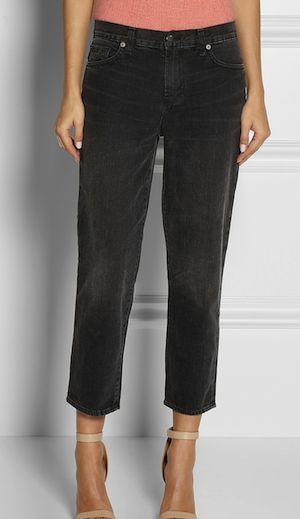 Emma Watson Style File: J Brand Ace Cropped Mid-Rise Boyfriend Jeans