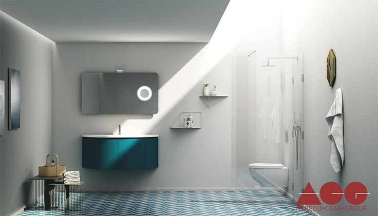 The vivid and accessible Bathroom FL13, design made in Italy.  #ArredoCasaGroup #BathroomFL13 #MadeInItaly
