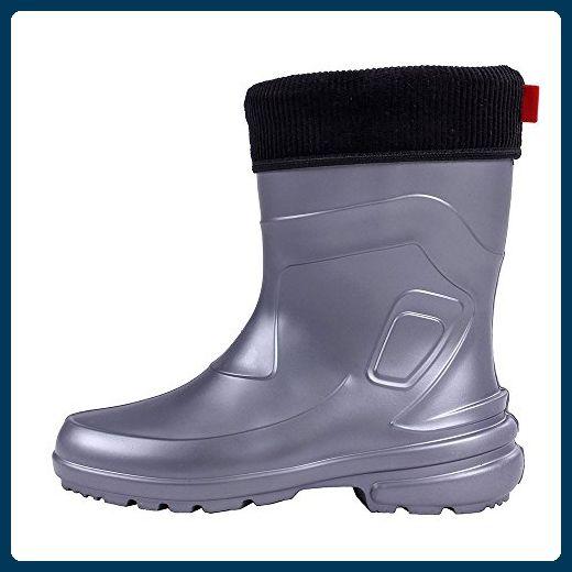 Lemigo Jessy 800 Damen Gummistiefel Regenstiefel Schuhe Regen Stiefel aus EVA mit herausnehmbarem Innenschuh, Farbe:Grey, Größe:40 - Stiefel für frauen (*Partner-Link)