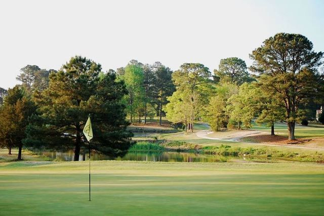 Opened in 1968, Cypress Lakes Golf Course remains the granddaddy of Fayetteville's public golf scene. (Courtesy of Cypress Lakes G.C.)
