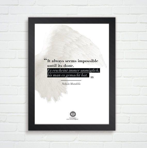 Nelson Mandela Zitate Typographic Poster Druck von SagesmitLiebe, €6.99