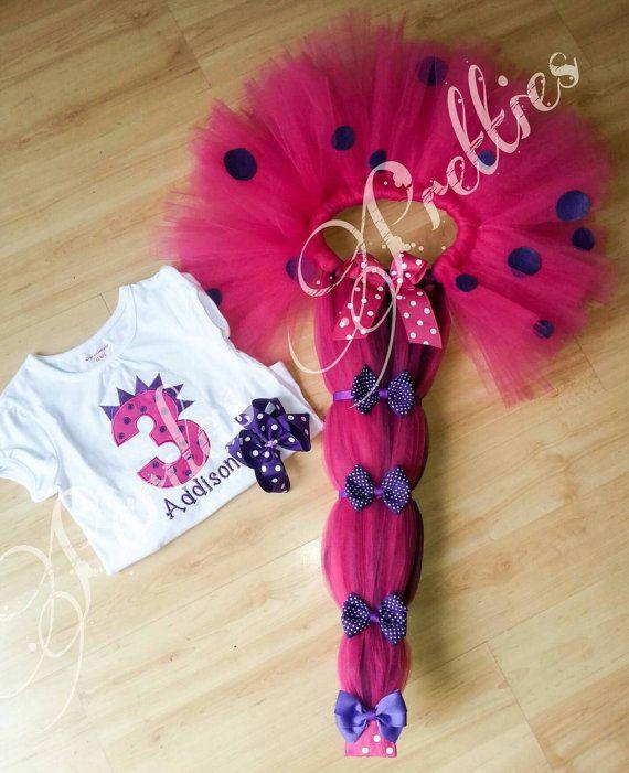 Cola de dino rosa tutu y camisa tutú del por PardasPretties84