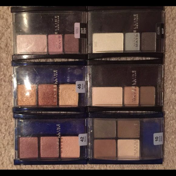 Covergirl Eyeshadows 6 different eyeshadow packs.  I've had them for a few years, all but one have never been used and ONLY swiped with a brush.  Recently sterilized. Cover Girl Makeup Eyeshadow