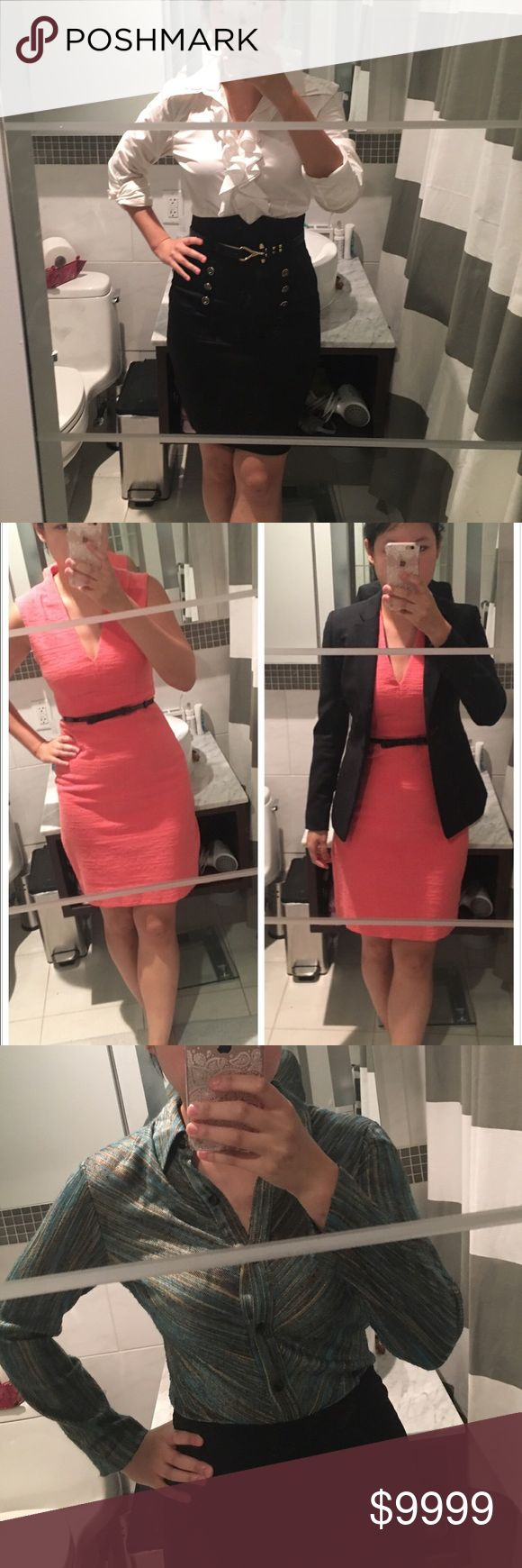 Kate Spade coral sheath dress Comes with black belt. Gold zipper in the back. Needs dry cleaning for now. If you want me to dry clean for you, price of dry cleaning will be added to price kate spade Dresses