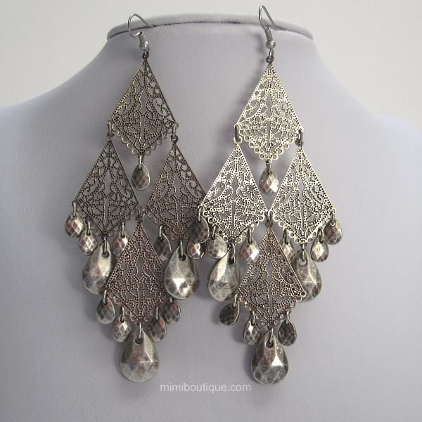 128 best Aretes images on Pinterest | Earrings, Colors and Jewelry box