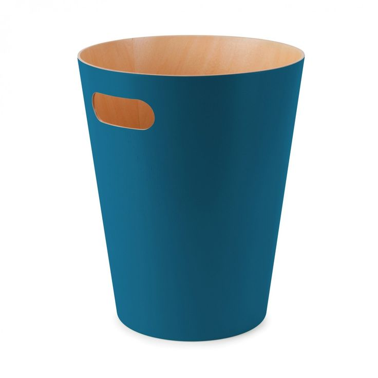 WOODROW WASTE CAN TEAL  | Umbra