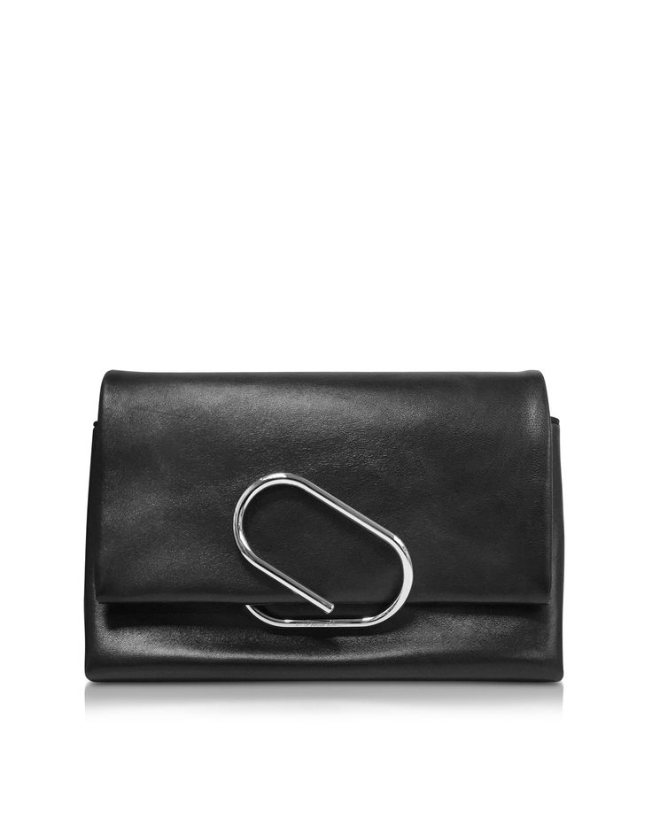 Alix Soft Flap Clutch crafted in supple lambskin with signature Alix hardware detail, is a contemporary clutch with a youthful flair for the perfect grab and go day or night. Featuring flap top with iconic Alix paperclip clasp closure, exterior back slip pocket, snake-chain shoulder strap, internal zip pocket and silver tone hardware detail. Signature dust bag included.