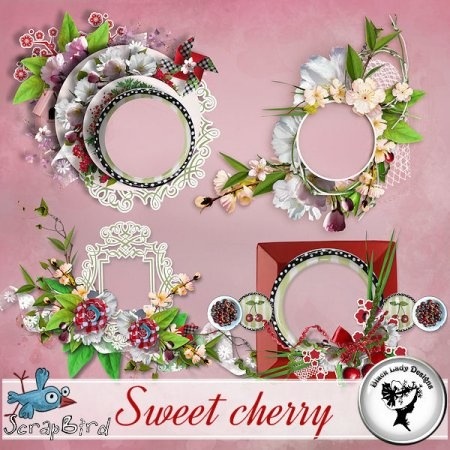 Sweet cherry - Clusters by Black Lady Designs