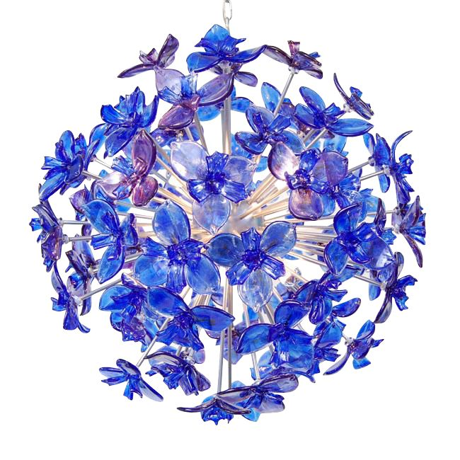 Richard Rooze, 'Air, Light and Life'. Irises Chandelier offered by Oljos Glass Concepts on RubyLUX.