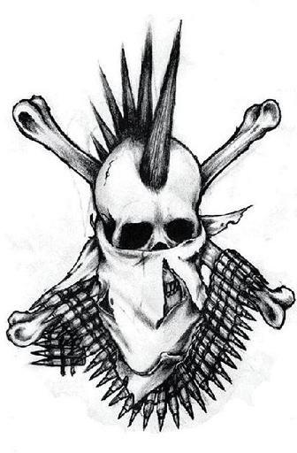 Punk Skull Tattoo Tattoos Body Art Designs For Tattoos Pinterest Skulls