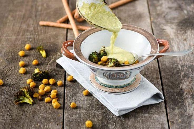 Broccolisoep met kikkererwten van peulvruchten.nl