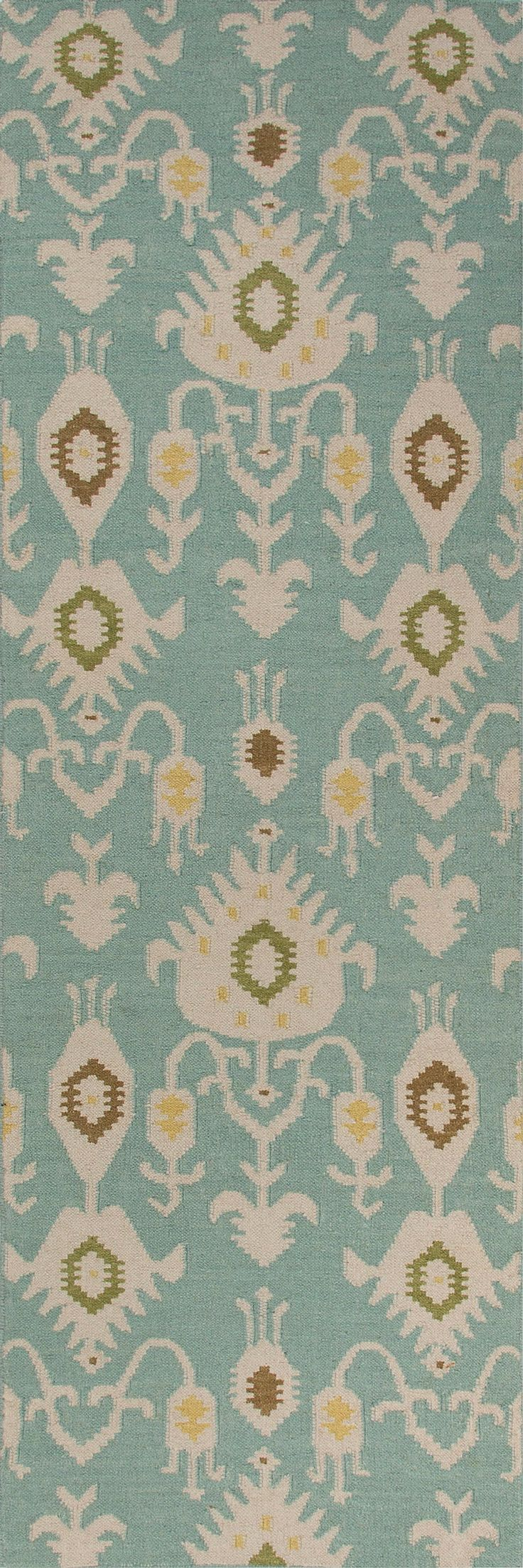 Jaipur Rugs RUG102783 Flat-Weave Tribal Pattern Wool Blue/Ivory Area Rug ( 8x10 )