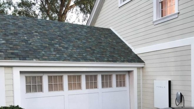 Tesla solar panel roof shingles. Love the look of these innovative solar panels. The Slate is gorgeous!