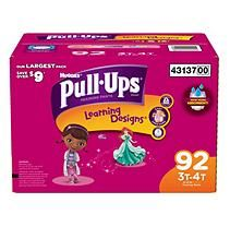 Huggies Pull-Ups Training Pants for Girls, Size 3T-4T (32-40 lbs.), 92 ct.