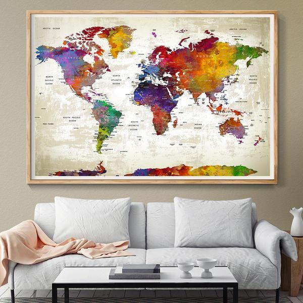 44 best extra large world map images on pinterest extra large push pin travel world map extra large wall art world map push pin world travels map office decor home decor travel map map art print poster size gumiabroncs Gallery