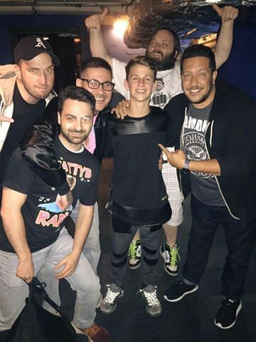 MattyB with the cast of Impractical Jokers!!!!!!