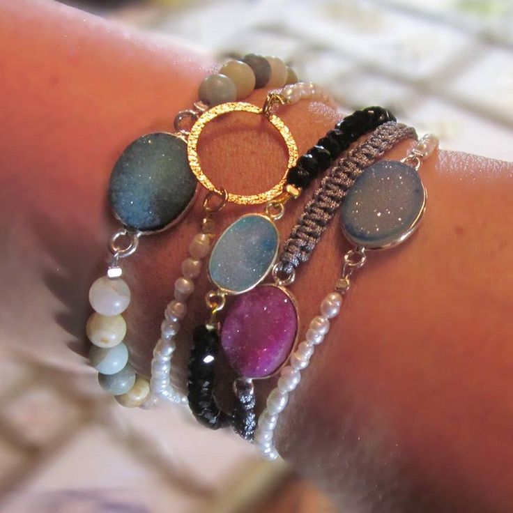 Choose your karma eternity circle bracelet! *Sterling silver *Freshwater pearls *24K gold plated *Positive energy