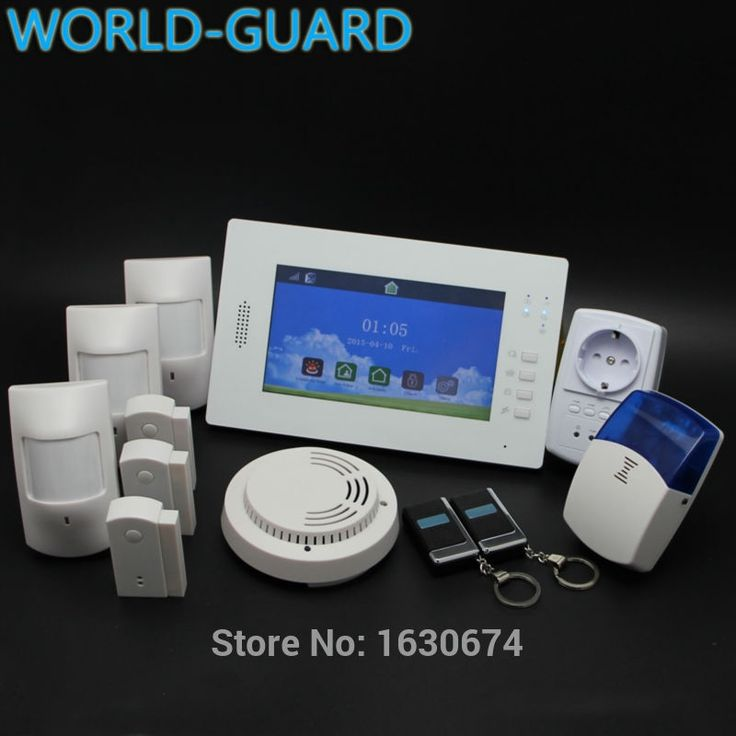 (223.20$)  Buy here  - New 7 Inch Touch Panel Wireless GSM PSTN Home Security Alarm System with Backup Battery Support IOS and Android APP Controll
