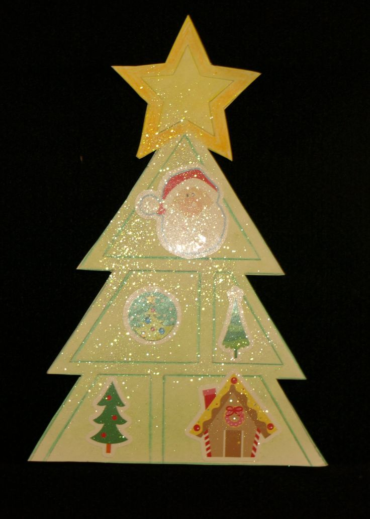 Simple Christmas tree for use in bunting or perhaps a card. Templates available at http://www.ezyshaid.com