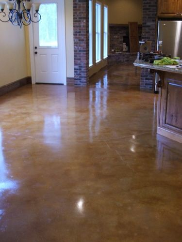 Stained concrete floor acid stained concrete floors for How to clean acid stain floors
