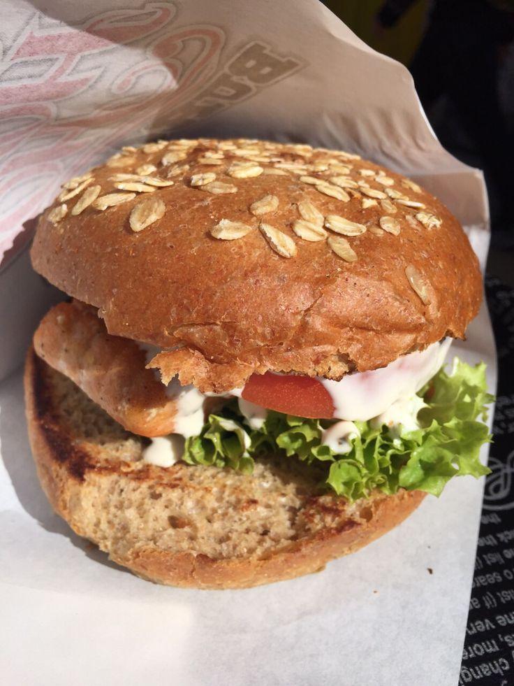 Your big time salmon burger