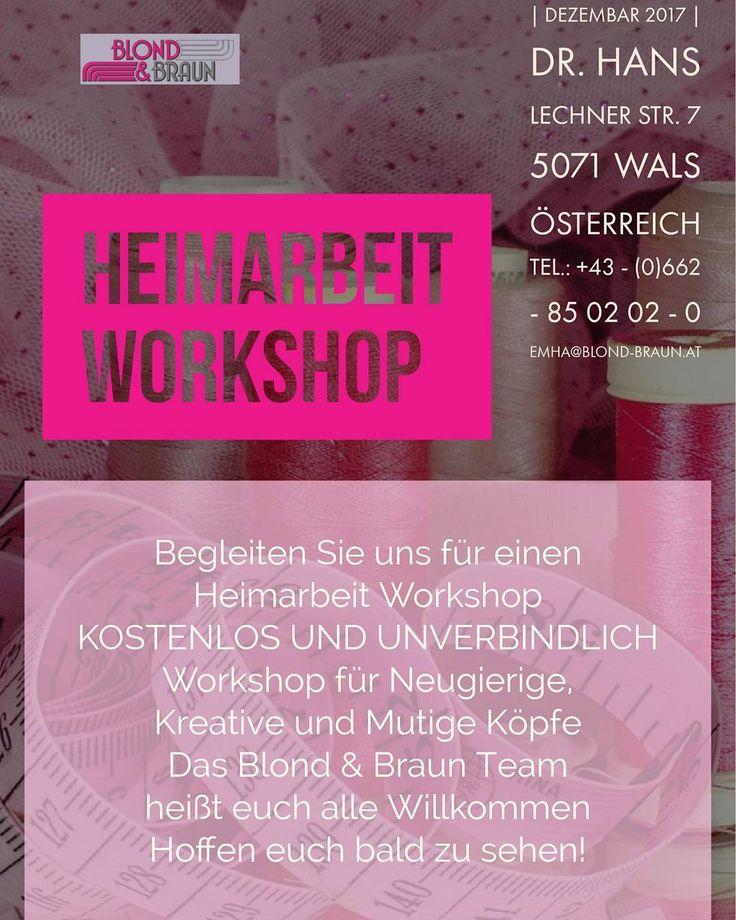 Nehmen Sie Teil bei unserem Workshop und fangen Sie flexibel von Zuhause zu arbeiten!  #blondundbraun #friseure #homeoffice #workfromhome #homejob #heimarbeit #einschulung #stylist #workshop #salzburg #österreich #jobs #friseur #schneider #schneiderin #lovepink #f4f #l4l #instadaily #instanews #igers #weekendmood #fridaymood #freitag #wochenende