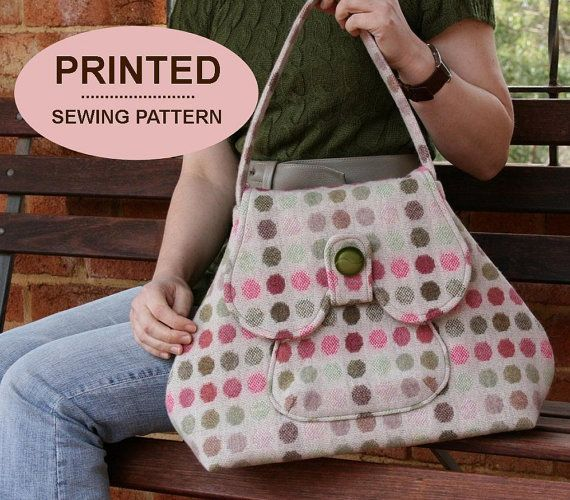 Sewing pattern to make the Premium Bond Bags - PRINTED pattern (TWO styles included). $15.00, via Etsy.