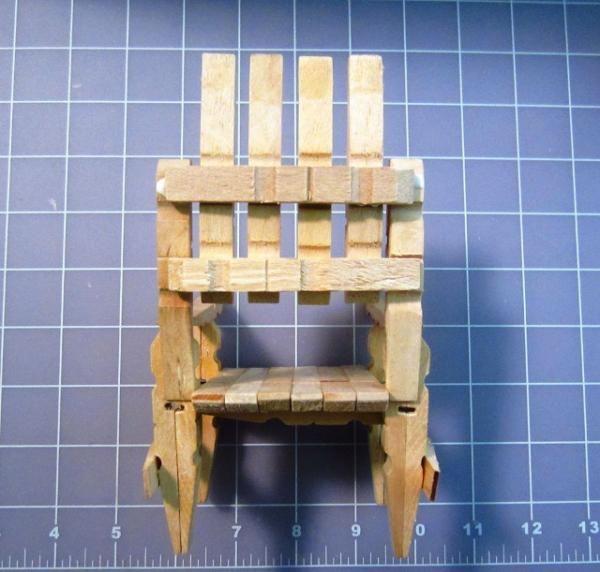 silla con pinzas de madera paso a paso