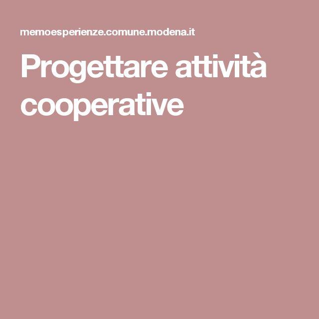 Progettare attività cooperative