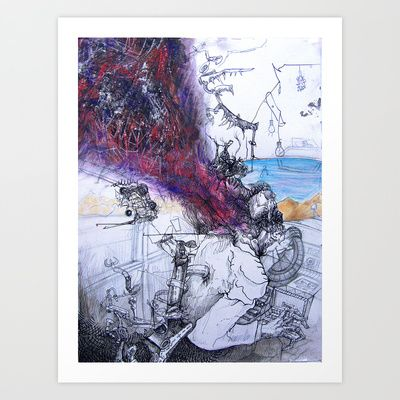 One Day We'll Stay Awake Art Print by Nick Helton - $17.68