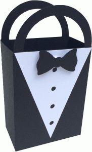 Silhouette Design Store - View Design #64256: tuxedo bag