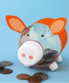 ALCANCÍA: Que mejor que desde pequeños enseñar a los niños a ahorrar y lo ideal es estas increíbles manualidades para niños un cerdito ahorrador...  http://mipagina.1001consejos.com/profiles/blogs/4-increibles-manualidades-para