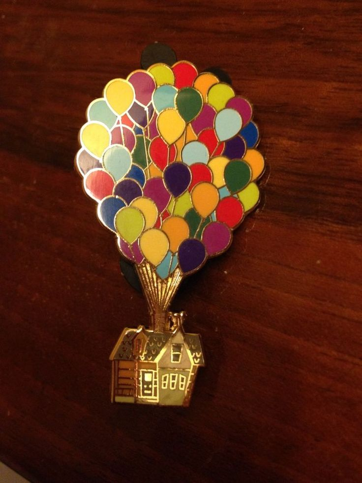 Disney UP Pin House With Balloons Trading Pin