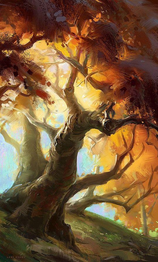 Amazing Paintings by Lane Brown #tree #art