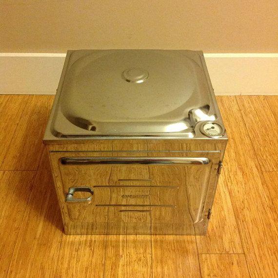Vintage Everhot Rangette Oven  chrome metal by rust2retro on Etsy