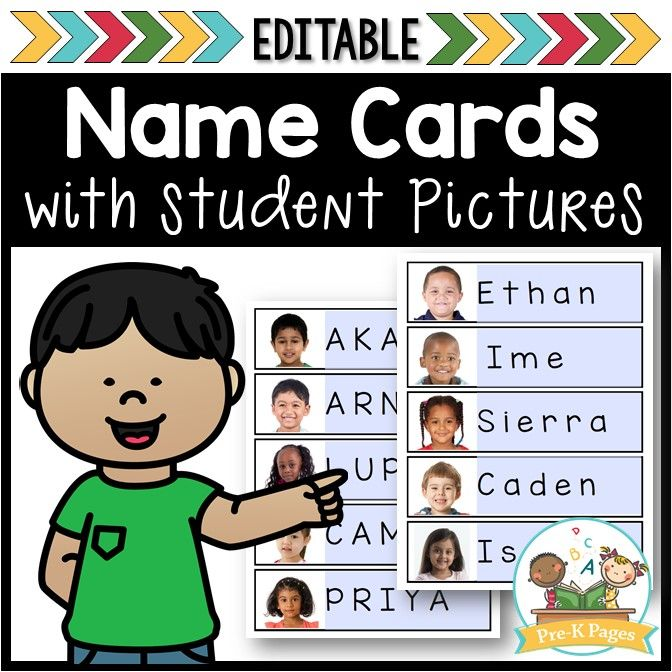 Free Editable Name Cards with Picture Free editabl…