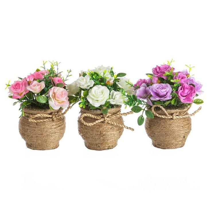 Las 25 mejores ideas sobre flores de cuerda en pinterest - Decoracion de maceteros ...