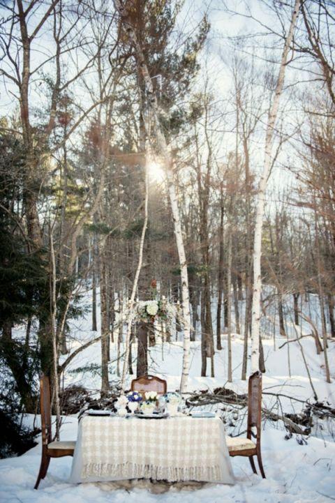 Зимний шик - Уютный белый и синий лес Свадебный От Карлы Ten Эйка
