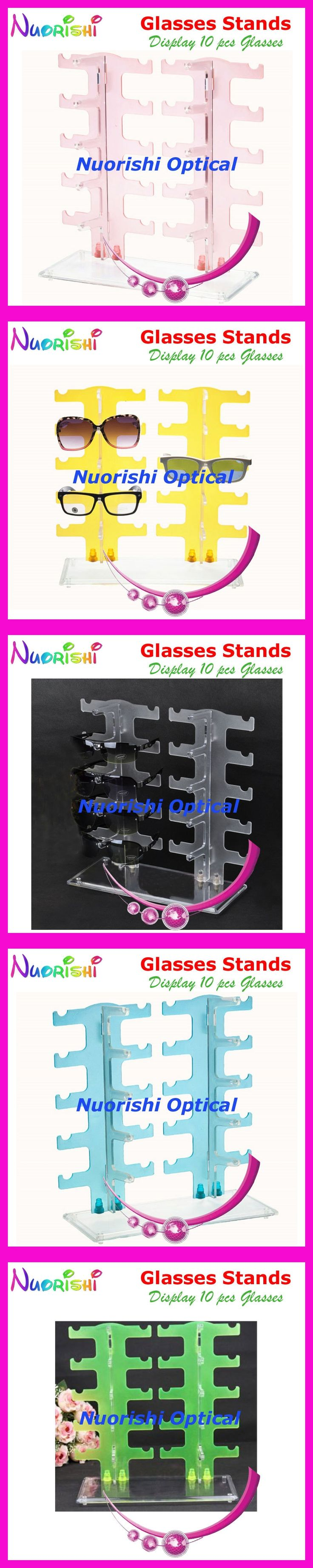 5 Colors Eyeglass Sunglass Eyewear Glasses Store Display Stands Props Shelf Show 10pcs Glasses On Counter CK304-10 Free Shipping