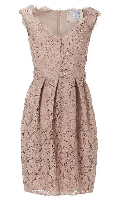 Nude Lace and Pleats