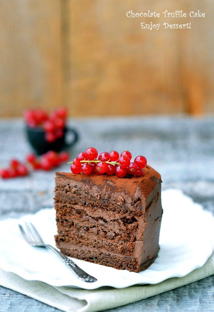 Tort de ciocolata cu crema trufa