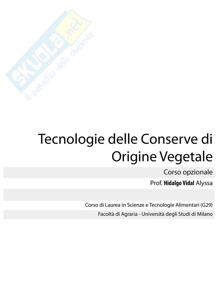 Scarica gli appunti su lezioni qui. Tutti gli appunti di Tecnologia delle conserve  li trovi in versione PDF su Skuola.net!