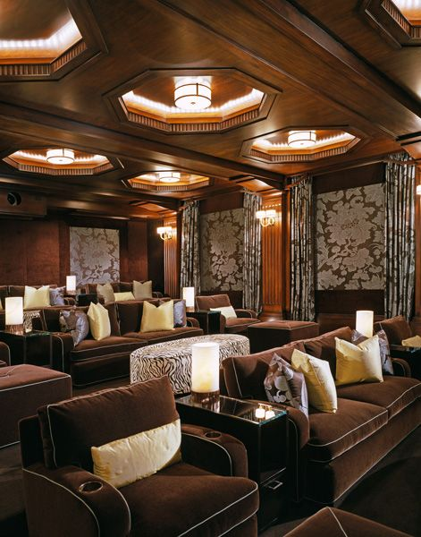 Lighting Heights Media Room Design Pictures Remodel Decor And Ideas Page 37 Luxurious Home Theater Media Room